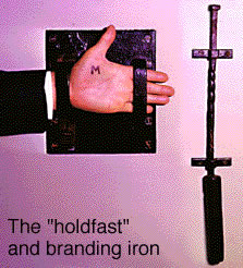 the holdfast and branding iron